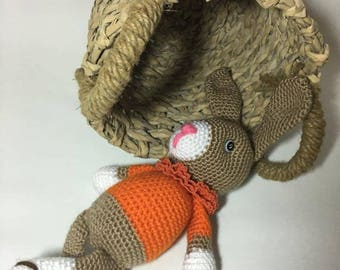 "Crochet bunny rabbit in crochet ""(Basket for illustration only)"