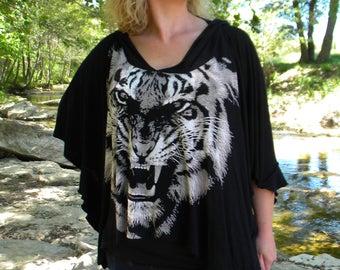 Black summer Cape hooded reason Tiger