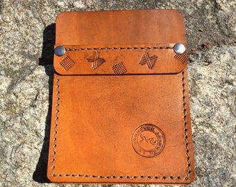 Handcrafted leather pocket protector