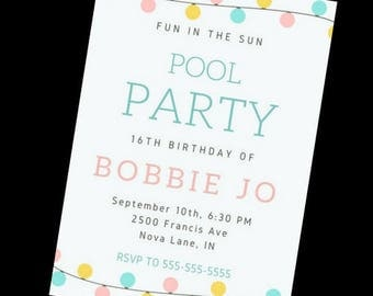 Fun in the Sun Birthday Invitation