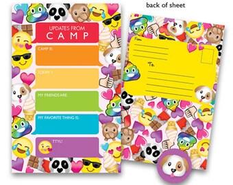 Camp Seal-N-Send Stationery - Emoji Girl