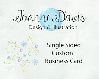 Custom Single Sided Business Card | Unique | Stand Out