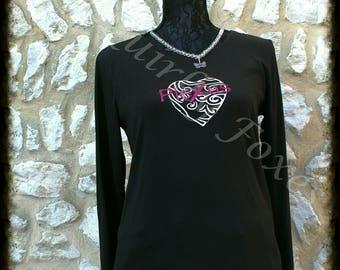 Plexus long sleeve shirt Stylized heart