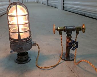 Steampunk Explosion Proof Factory Table Lamp