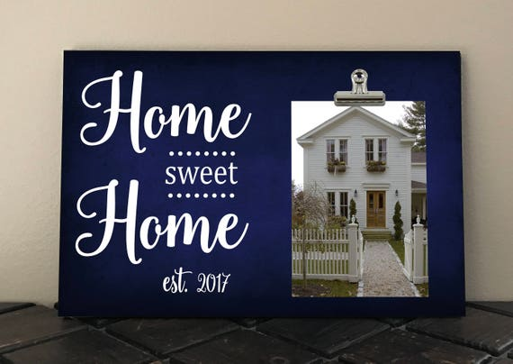 HOME SWEET HOME Photo Clip Frame Personalized Free Frame