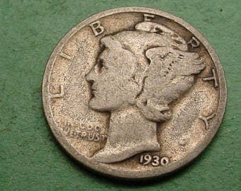 1930-S Mercury Dime Very  Good   FREE SH In United States # ET351