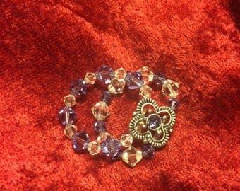 Swarovski crystal slider ring