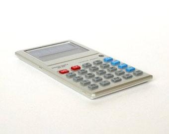 Calculator ELEKTRONIKA MK- 60. Russian Vintage Calculator With Solar Battery. LCD Russian Pocket Calculator With Original Case, Box.
