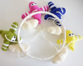 Crochet Airplanes Baby Mobile