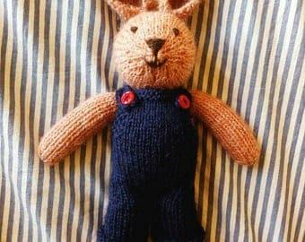 Woody the bunny rabbit - handmade 100% wool, baby shower, toddler, easter, boy , girl, Easter bunny