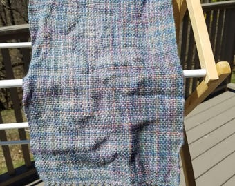 Muted Plaid Woven Wool Scarf