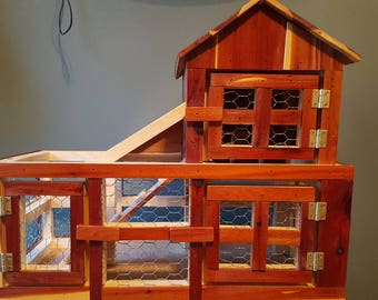 Cedar Chicken Coop - Indoor Play