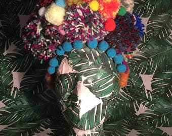 Extra Large Pom Pom Headpiece