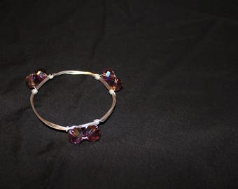Red & Silver Wire Bangle