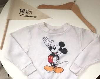 greyboy's vintage mickey mouse two-sided sweatshirt - size 18 months
