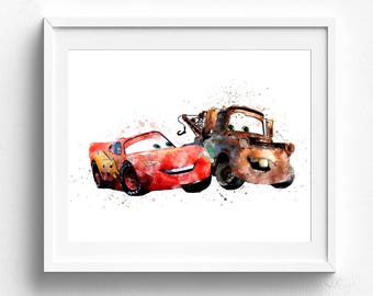 Lightning mcqueen, mcqueen birthday, cars mcqueen prints, mcqueen party, disney cars birthday disney cars print disney cars art disney print