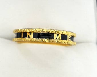 "Antique Victorian ""In Memory Of"" memorial ring 18ct"