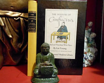 Vintage Confusius Art of Living and Buddah - Father's Day