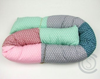 Bed snake 160 cm puck worm storage cushion