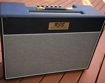 Hand wired all Tube 2x12 Guitar Amplifier.