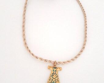 Silk rope,gold plating caftan