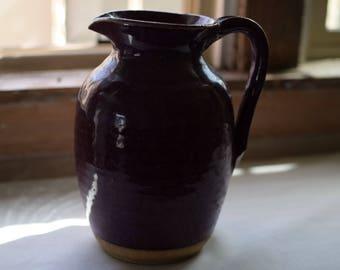 Ceramic Plum Purple Dinnerware Water Pitcher