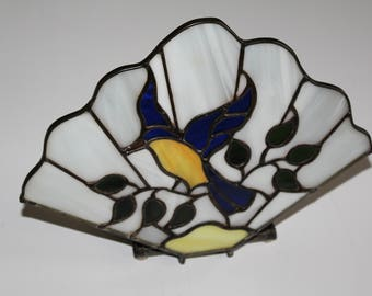 Decorative stained glass fans