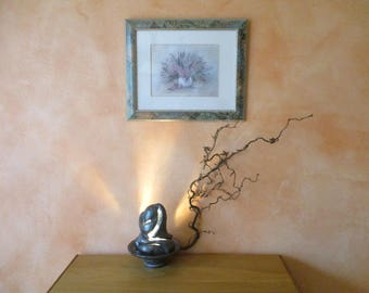 Silver Blue table lamp in ceramic free floor lamp, floor lamp, ceramic sculpture, ceramic art models,