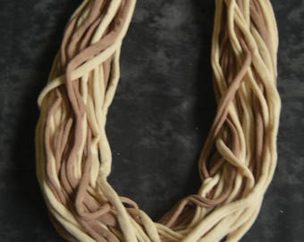 Hand made cotton necklace