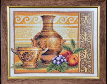 Still life, embroidered, hand embroidery, embroidery designs, embroidery pattern, handmade, interior decoration, picture, interior painting