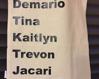 Tote Bag, Grocery, Tote, Craft, Family Tribe, Personalized Tote, Teacher