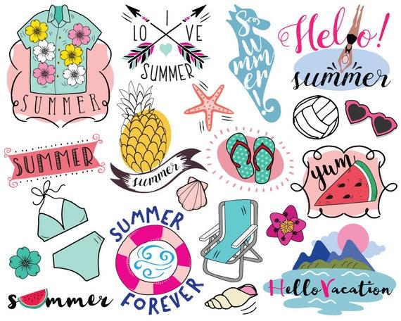 Vacation Summer Clipart vector summer clip art beach