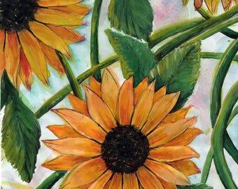 2x Floral Wall art print
