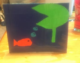 Fish duct tape wallet