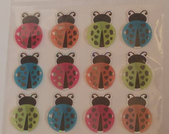 Lady bug 3d stickers
