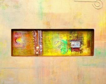 """Abstract Mixed Media Modern 30X40 painting :""""The Light From Within""""."""
