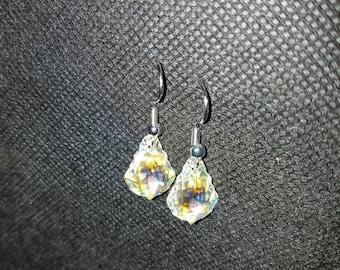 earrings swarovski crystal bling handmade