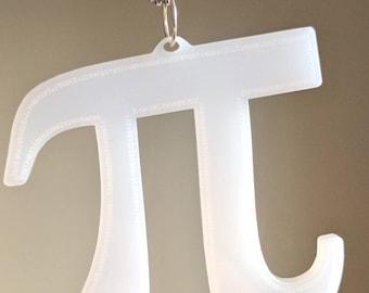 Pi pendant or ornament, laser cut semi-transparent acrylic, 459 digits of Pi laser engraved!