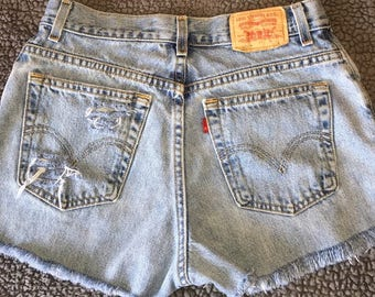 Vintage high waisted cut off Levi's