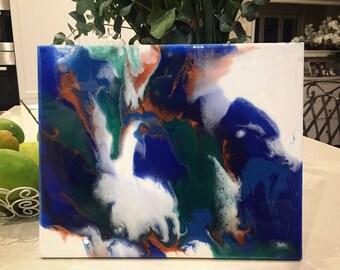 Magician // original abstract resin painting
