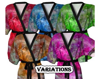 Eta Carinae, Kimono Robe, Nebula, Weddings, Dressing Gown, Bridesmaid Robe, Coverup, Spa Robe, Swimsuit Coverup, Robe, Knit, Chiffon Kimono,
