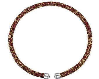 Austrian crystal necklace red
