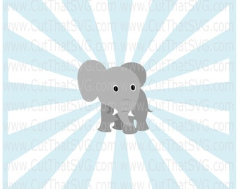 Baby Elephant SVG, elephant svg, Baby elephant cut file, elephant clipart, zoo svg, animal svg, cute elephant svg, elephants svg, dumbo svg
