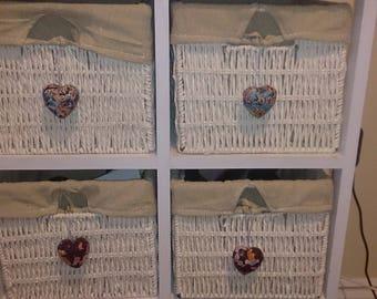 Decorative Papier Mache/wooden hearts