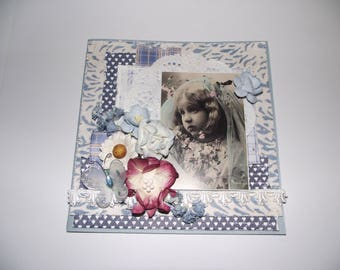 Handmade beautiful  romantic card whit lots of decorations