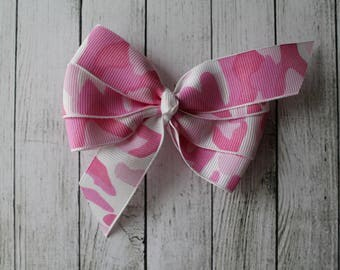 Pink Camouflage Bow