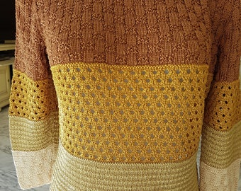 woman sweater knitted by hand