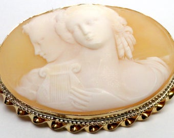 Vintage Double Face Cameo