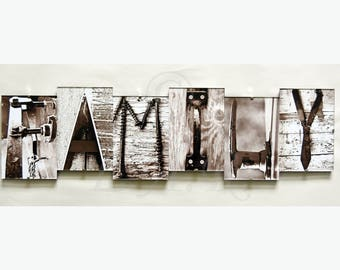 FAMILY *** Letter Art Reflections, Alphabet Photography Picture