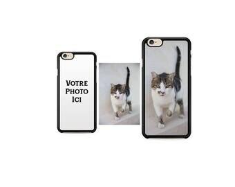 Case Iphone 4, 5, 6, 7 custom edges black Silicone